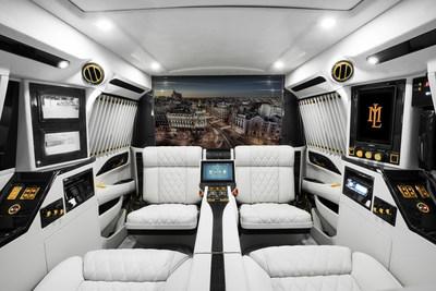 Interior of the Lexani Motorcars Escalade Conversion PIANO Edition