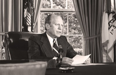 "What can America learn from its past? When Gerald R. Ford took office in 1974, the United States was in turmoil, exhibiting parallels with today's political distrust. Now on May 27, at 9 p.m. ET/PT, the National Geographic Channel will debut ""Gerald R. Ford: A Test of Character."" Narrated by Jeff Daniels, the film highlights the country's social and political unrest during Ford's presidency and the character of one man with a steadfast ability to build trust on both sides of the aisle, unite a nation, and gain respect from world leaders."