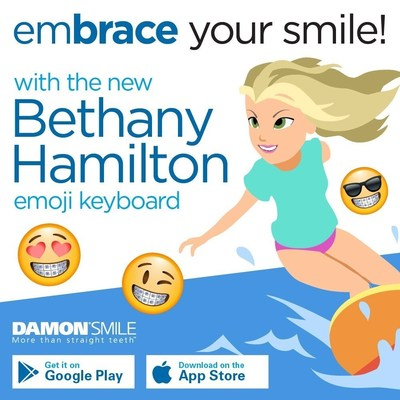 'Soul Surfer' Bethany Hamilton Teams Up with Damon(TM) System Braces to Launch Emoji Keyboard