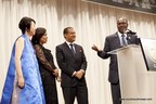 Photo from left to right: Ki-Ja Chung, Chair, GF4D, Coumba Toure, Founder, Advanced Development for Africa, Francis Lorenzo, Executive President of the South-South Steering Committee for Sustainable Development and President of South-South News, Hamadoun Toure, Secretary-General, ITU
