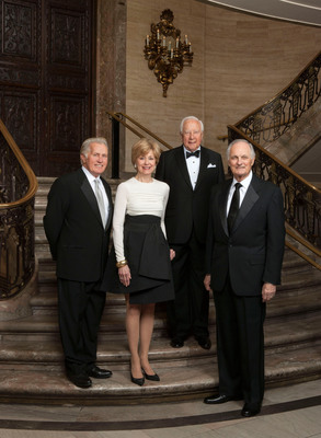Winners of the 2013 Common Wealth Awards of Distinguished Service gather for the April 20 awards ceremony hosted by The PNC Financial Services Group in Wilmington, Delaware. Receiving a shared prize of $300,000 were (from left): actor-activist Martin Sheen, broadcast journalist Jane Pauley, author David McCullough and actor Alan Alda. PNC is trustee and administrator of the Common Wealth Awards which annually honor people who have enriched society through their life's work.  (PRNewsFoto/PNC Financial Services Group)