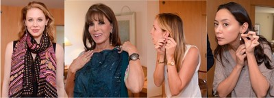 - Celebrities and Stylists Wearing Jewelry from Susan Eisen Fine Jewelryat the StyleLab Suite During Emmy Awards Week - From Left to Right: Maitland Ward, Kate Linder, Melis Kuris, and Lucia Micarelli (PRNewsFoto/StyleLab)