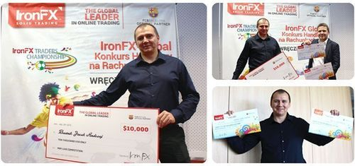 "The winner of the IronFX ""Traders Championship"" Live Trading Competition, Bartnik Jacek Andrzej from Poland, won the lifetime experience of a VIP package to attend the worldâeuro(TM)s biggest sports event in Brazil. (PRNewsFoto/IronFX Global Limited)"