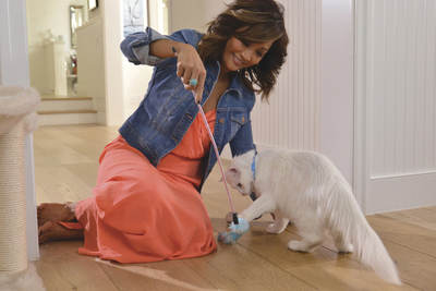 Carrie Ann Inaba partnered with Purina ONE to help educate cat owners everywhere about cat health and well-being. She had her cat, Blizzard, join the 28 Day Challenge by switching her food to a dry formula and saw visibly healthier changes in her cat. Ms. Inaba will be in New York City on April 23 and 24 to help open the Cat Cafe by Purina ONE - an event where cat owners can mingle with cats and learn about cat health.  (PRNewsFoto/Purina ONE)