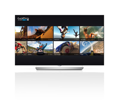 LG Electronics USA today announced an expansive lineup of new content partners for the company's new webOS 2.0 Smart TV platform at the 2015 International CES(R). One of the most noteworthy new content partnerships is the TV collaboration between LG Electronics USA and GoPro, which will bring some of today's most engaging content to LG Smart TVs.
