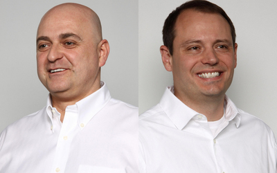 Masstech Vice President of Technology Iulian Ionita (left) and Enterprise Director/General Manager Savva Mueller (right).  (PRNewsFoto/Masstech Group)