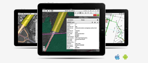 GIS 2go is the world's first mobile GIS solution with which maps from ESRI's ArcGIS Desktop can simply be taken along on the tablet (iPad or Android). GIS 2go is developed by Disy Informationssyteme GmbH, mobile GIS, GIS-app, offline GIS, without internet connection, mobile GIS solution for ESRI's ArcGIS Desktop maps, www.gis2go.com (PRNewsFoto/Disy Informationssysteme GmbH)