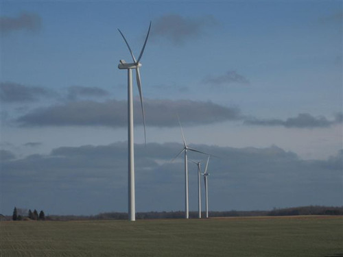 Michigan Wind 2, a 90 megawatt, 50 turbine wind project, is the first commercial wind project developed by Exelon Wind.  It went into full commercial operation on Dec. 31, 2011.  (PRNewsFoto/Exelon Generation)