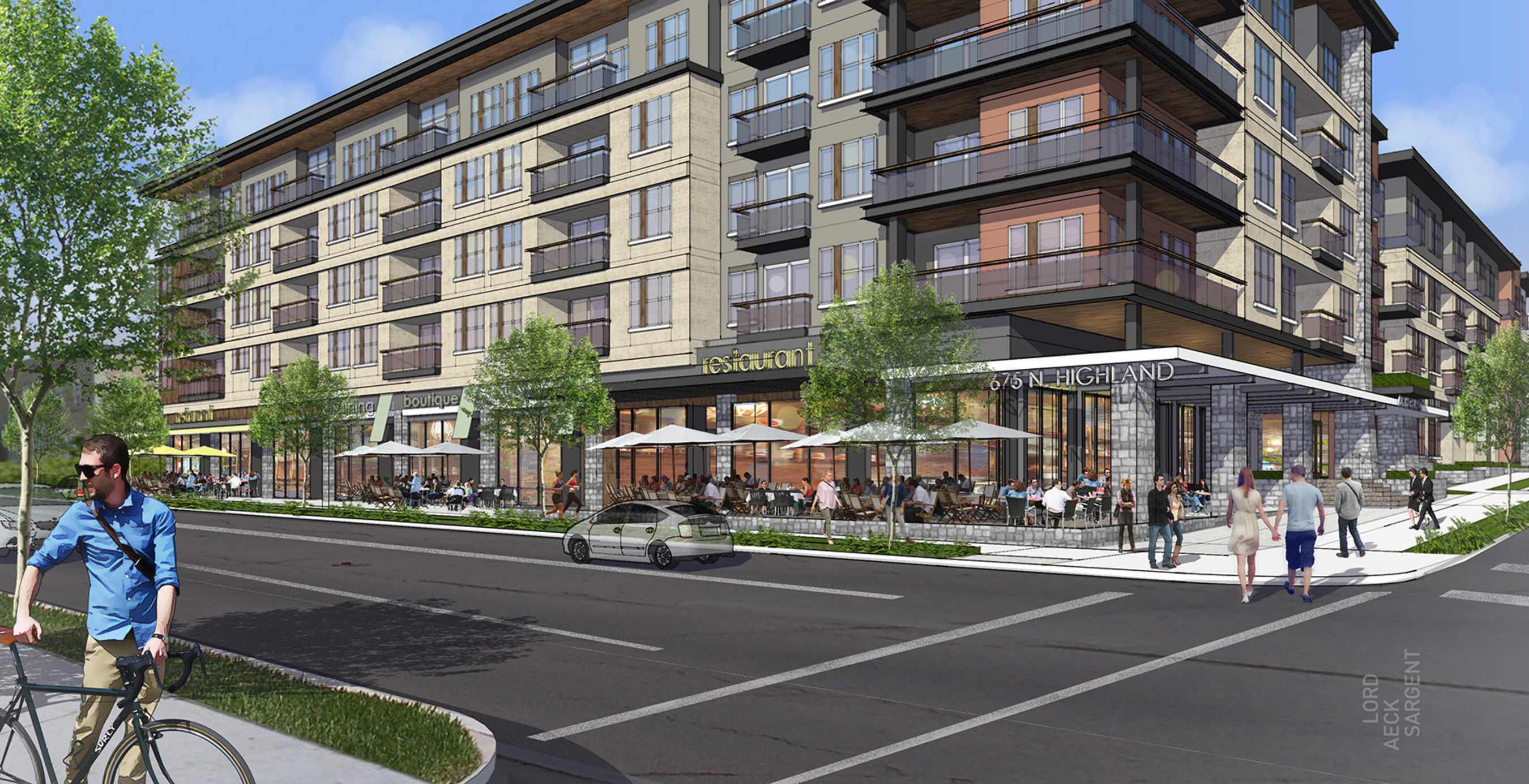 Gilbane Building Company Awarded Construction of 675 North Highland Mixed-Use project