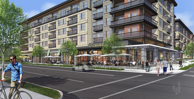 Rendering of the planned 675 N. Highland project. Courtesy Lord Aeck Sargent.
