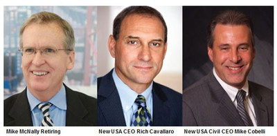 (Left to Right) Mike McNally Retiring; New USA CEO Rich Cavallaro; New USA Civil CEO Mike Cobelli