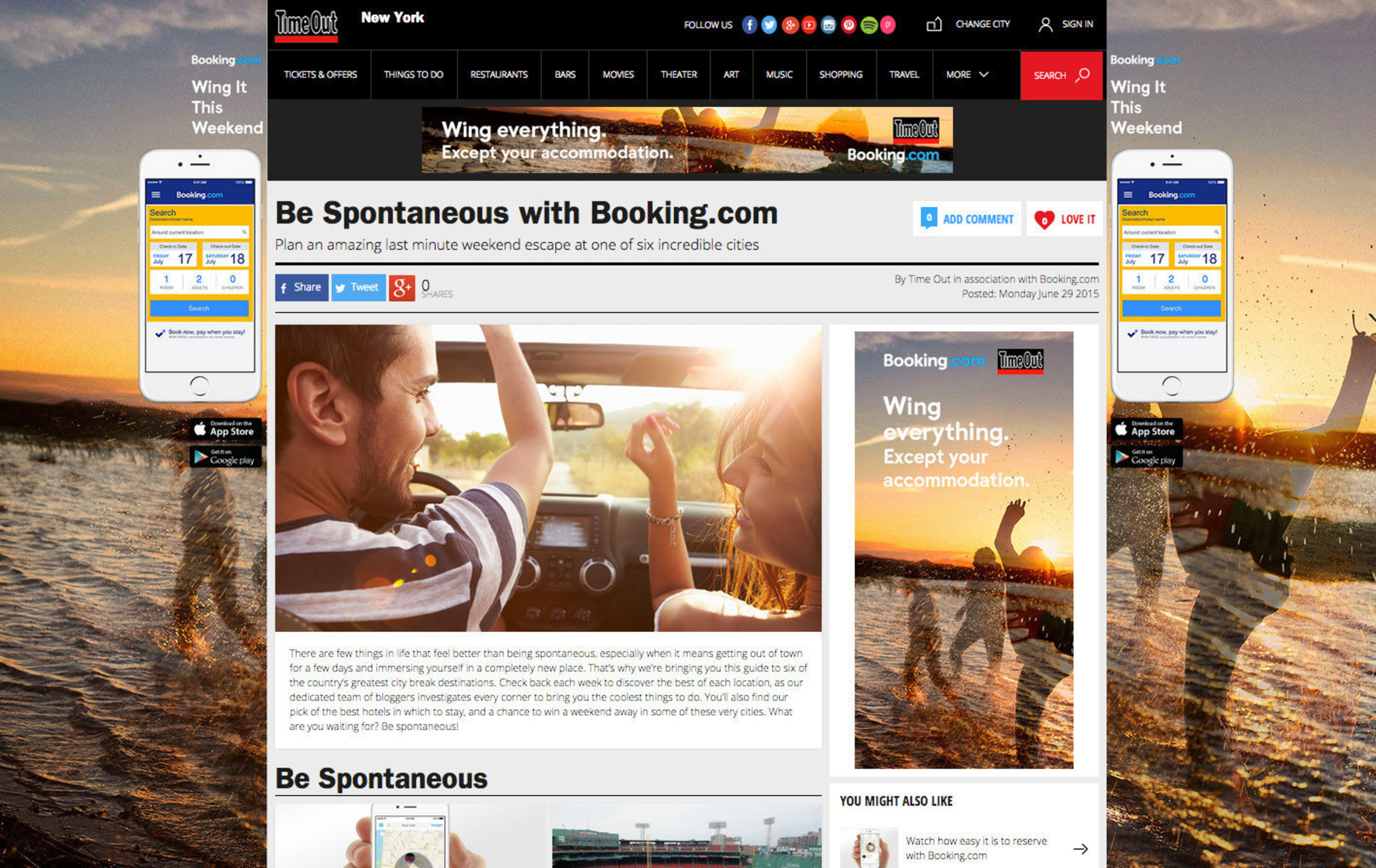 Booking.com Partners with Time Out to Inspire Spontaneous Travelers to Explore New Cities