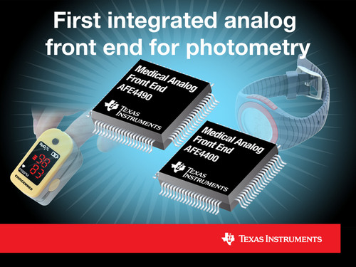 TI introduces the first integrated analog front end for photometry and showcases HealthTech at CES