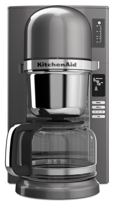 The new KitchenAid(r) Pour Over Coffee Brewer designed to automatically simulate the manual, pour over method of brewing coffee, has earned the Home Brewer certification from the Specialty Coffee Association of America (SCAA). (PRNewsFoto/KitchenAid)