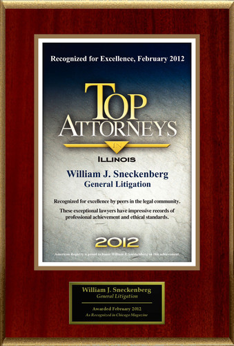 Attorney William Sneckenberg Selected for List of Top Rated Lawyers in IL