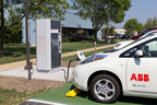 Fast charging the Nissan Leaf.  (PRNewsFoto/ABB)