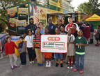 Nathan's Famous representatives presented the Salvation Army Boys & Girls Clubs of Metropolitan Houston with an H-E-B gift card worth $1,000 towards the purchase of groceries, courtesy of Nathan's Famous.