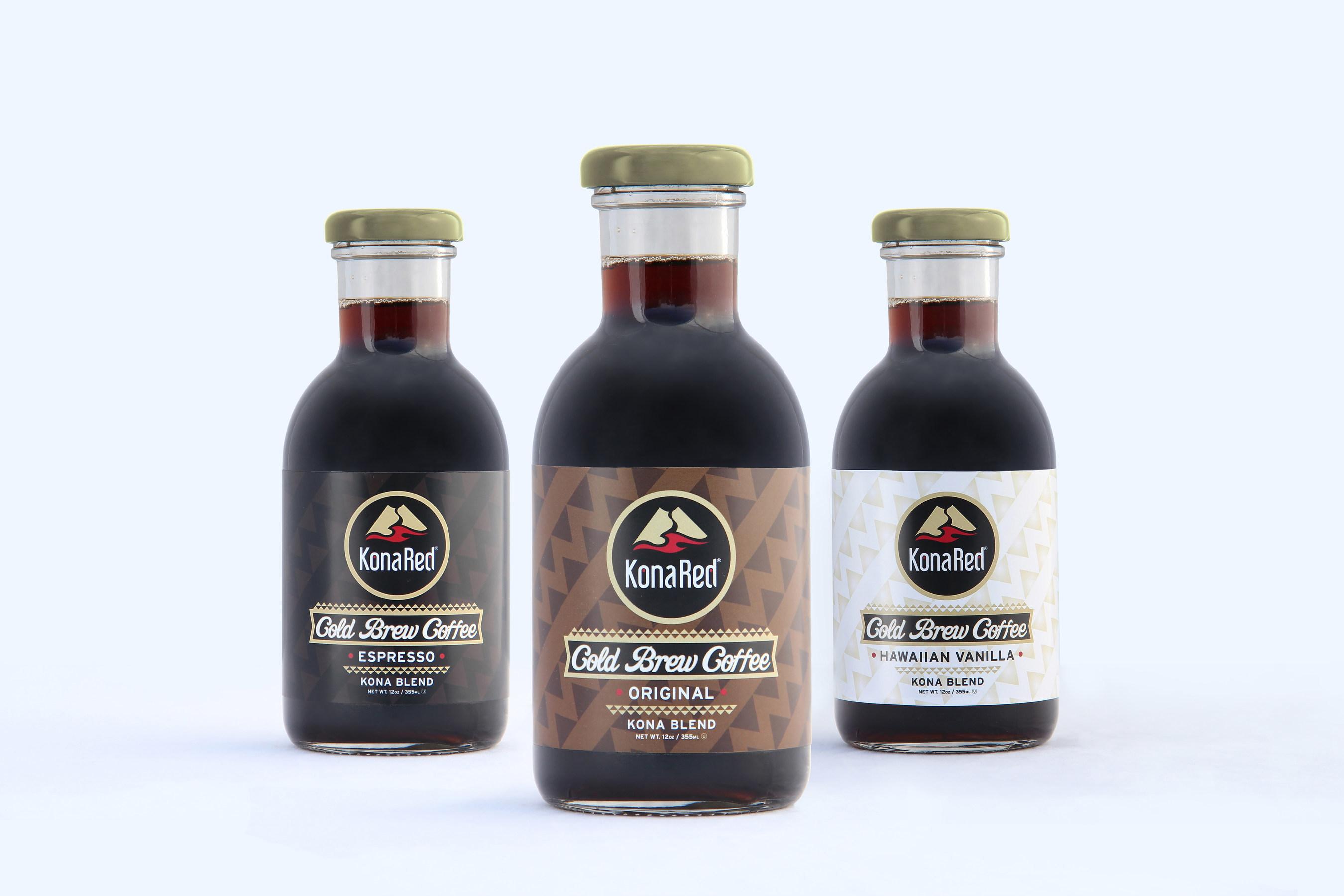 KonaRed Ready to Drink Cold Brew Coffee infused with Hawaiian Coffee Fruit (PRNewsFoto/KonaRed Corporation)