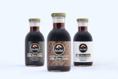 KonaRed Ready to Drink Cold Brew Coffee infused with Hawaiian Coffee Fruit (PRNewsFoto/KonaRed Corporation)