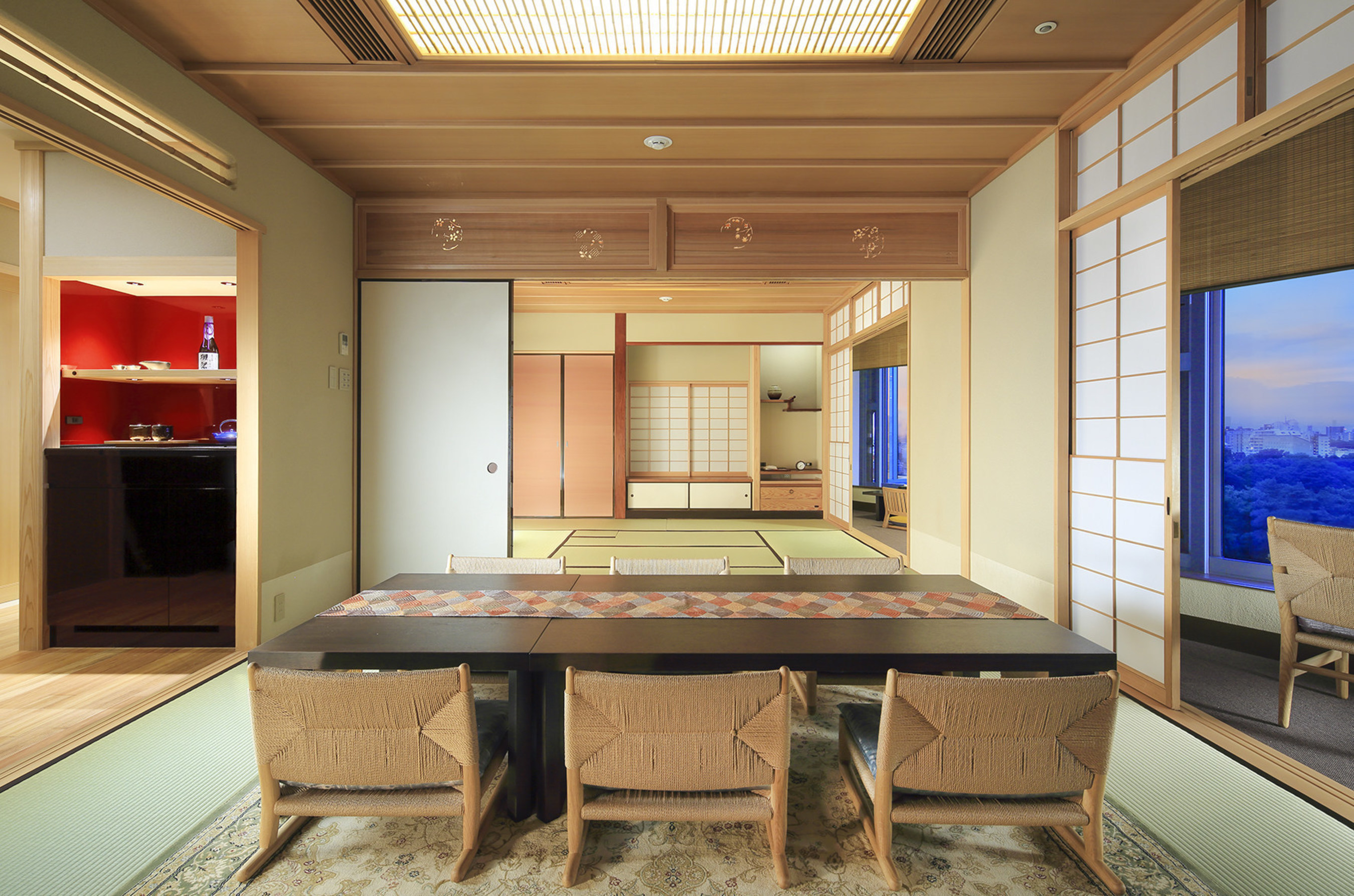 The newly renovated one-of-a-kind Japanese Suite at Hotel Chinzanso Tokyo is the ideal space to experience the breadth of Japanese culture and history. Featuring authentic minimalist elements of traditional tea houses, the decor emphasizes Japanese craftsmanship using precious materials such as camellia trees, mikage stone, and aromatic Japanese cypress. Beneath the traditional look, the suite is equipped with modern amenities including a portable waterproof television and two mini bar areas offering...