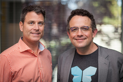 Evernote CEO Chris O'Neill (left) and Evernote Co-founder and Executive Chairman Phil Libin (right)