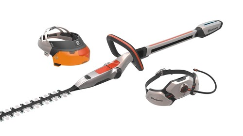 Design concept Husqvarna Ramus - hedge trimmer, visor and hip belt battery (PRNewsFoto/Husqvarna) (PRNewsFoto/Husqvarna)