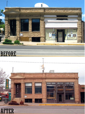Pictured above is the Montezuma Valley National Bank Building in downtown Cortez. In 2008 the Community Radio Project, Inc. applied for and received an HSA. Since then, the property has received more than $800,000 in SHF grants for exterior and interior rehabilitation to reuse the building as a radio station.