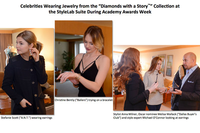 Celebrities and Their Stylists Previewed Jewelry From the Diamonds with a Story Collection(TM) at StyleLab's Suite During Academy Awards Week.  (PRNewsFoto/StyleLab)