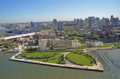 Aerial Rendering of Luxury 1 Hotel and Residential Complex at Brooklyn Bridge Park.  (PRNewsFoto/Toll Brothers ...