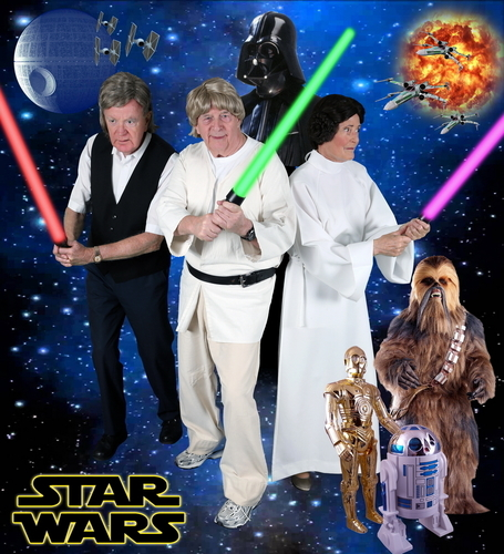 ExtraCare Charitable Trust Shenley Wood Village residents dress up for Star Wars for the Villageâeuro(TM)s 2015 Hollywood Calendar (PRNewsFoto/The ExtraCare Charitable Trust)