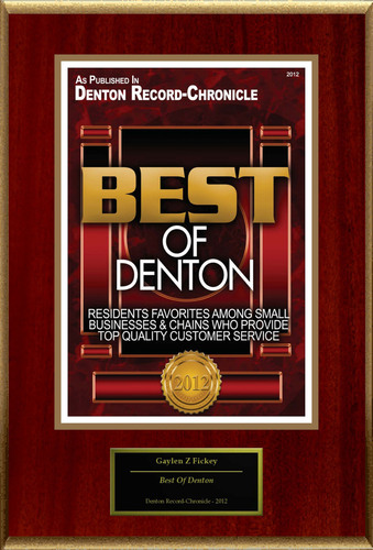 Gaylen Z. Fickey D.D.S Selected For 'Best Of Denton'