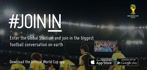 "The official FIFA World Cupâ""¢ app (PRNewsFoto/FIFA)"
