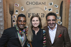 Chobani CEO Hamdi Ulukaya, right, FEED's Lauren Bush Lauren, center, and Chef Marcus Samuelsson host a FEED Supper to fight against world hunger on the eve of World Food Day, Wednesday, Oct. 15, 2014, in New York. (John Minchillo/AP Images for Chobani)