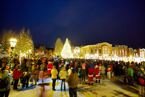 The Race of the Santas in Breckenridge, Colo. drew hundreds of costumed runners for a fun run supporting toy charity Adopt an Angel Summit County. The event, followed by the lighting of the town tree, raised funds to support happy holidays for more than 2,100 children since its inception in 2011. Holiday festivities continue through the month in Breckenridge, Colo. Daniel Dunn / GoBreck. (PRNewsFoto/GoBreck) (PRNewsFoto/GOBRECK)