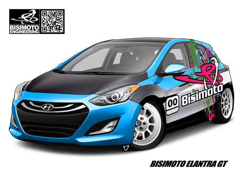 BISIMOTO ENGINEERING BUILDS 600 HP HYUNDAI ELANTRA GT CONCEPT FOR 2012 SEMA SHOW.  (PRNewsFoto/Hyundai Motor America)
