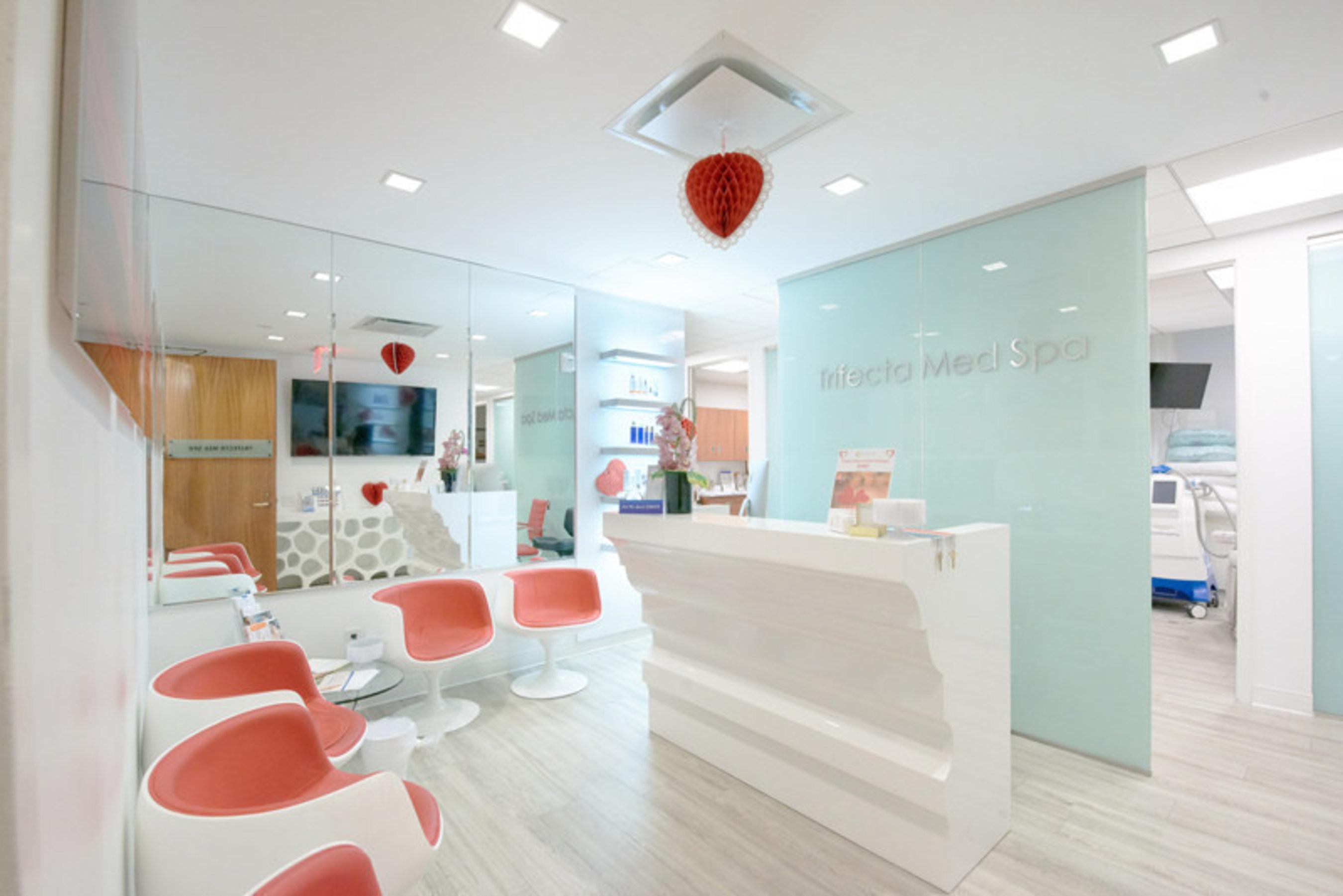 Beautiful Waiting Area at Trifecta Med SpaBeautiful Waiting Area at Trifecta Med Spa