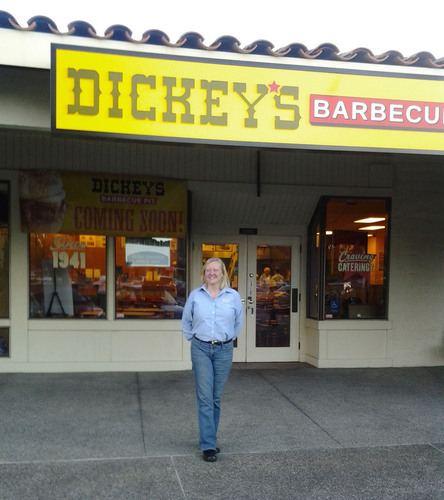 Dickey's franchise owner, Donna Schiano is excited to be opening her first location in San Ramon, ...