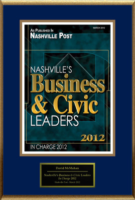 "David McMahan Selected For ""Nashville's Business And Civic Leaders"".  (PRNewsFoto/American Registry)"