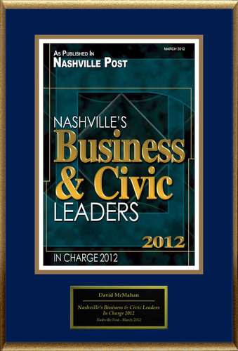 David McMahan Selected For 'Nashville's Business And Civic Leaders'
