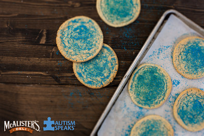 During the month of August, McAlister's Deli will turn their famous sugar cookies blue to benefit the world's leading autism science and advocacy organization - Autism Speaks!