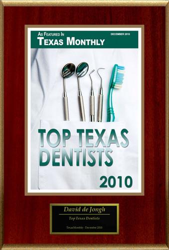 David de Jongh D.D.S. Selected For 'Top Texas Dentists'