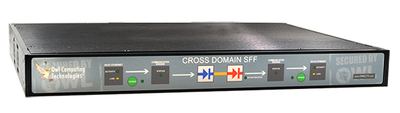 Owl OCDS-SFF. A single-box 1U Cross Domain Solution with multi-mission capabilities. Supports OCDS-FT15, OCDS-ST06 and MDRS. Able to transfer a range of data from real-time streaming video to file transfer. Low SWAP, Baseline validated and supporting bandwidth speeds up to 155Mbps.