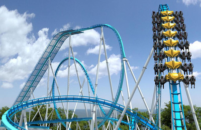 "The crown jewel of Cedar Fair's 2013 capital expenditure program will forever change the landscape at the ""Best Amusement Park in the World,"" Cedar Point, in Sandusky, Ohio. GateKeeper will feature trains with seats that extend to the side of the track, simulating the illusion of flight as riders will see nothing above or below them. This mammoth ride marks the 16th coaster at Cedar Point and further solidifies the park's position as the ""Roller Coaster Capital of the World."""
