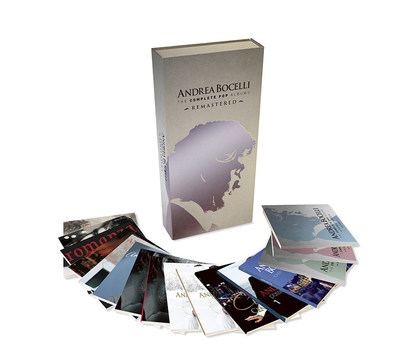GLOBAL SUPERSTAR ANDREA BOCELLI  -  THE COMPLETE POP ALBUMS-REMASTERED AVAILABLE IN A BEAUTIFUL 16-CD BOX SET - Thirteen of Renowned Italian Tenor's Remastered Studio Albums Plus 3 Bonus Discs of Rare or Previously Unavailable Material AVAILABLE-July 10, 2015