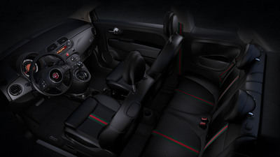2013 Fiat 500 by Gucci Interior.  (PRNewsFoto/Chrysler Group LLC)