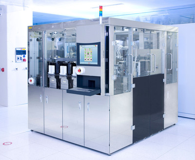 EV Group unveils a new via-filling process to improve the reliability of 3D-IC/TSV semiconductor packaging applications.  Shown here is an EVG(r)150 automated resist processing system.  Image courtesy of EV Group.  (PRNewsFoto/EV Group)