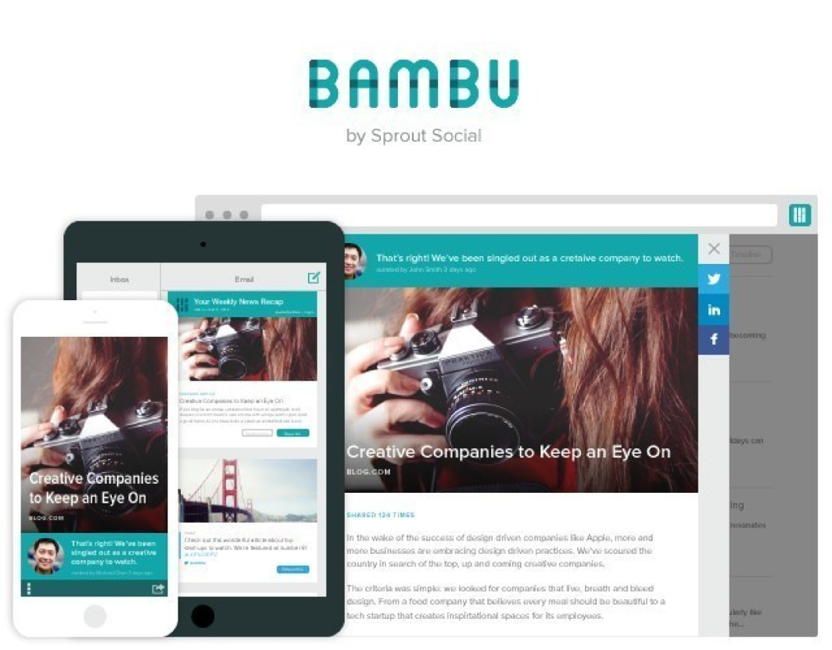 Introducing Bambu by Sprout Social, a New Social Advocacy Platform for Employees. Learn More at getbambu.com.