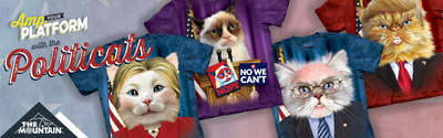 The Politicats T-Shirt Collection by The Mountain(TM)