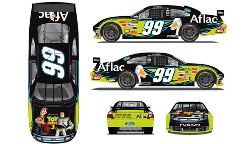 No. 99 Aflac Ford Fusion to Feature Toy Story 3-Inspired Look for Upcoming NASCAR Race