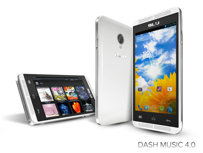 DASH MUSIC 4.0(PRNewsFoto/BLU Products)
